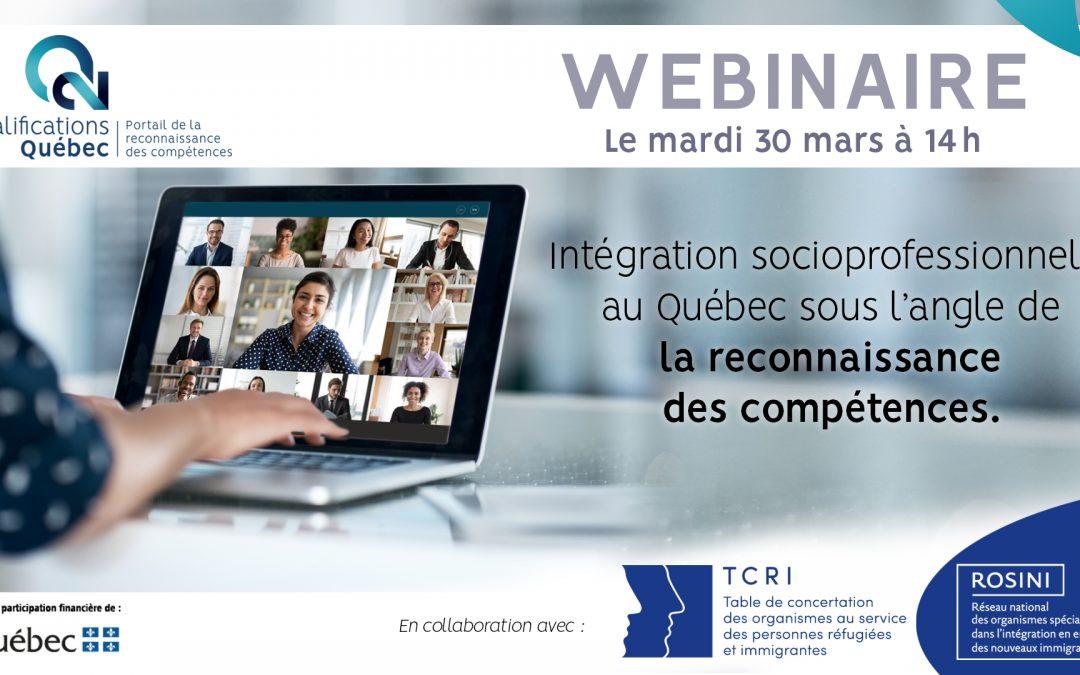 Webinaire : Intégration professionnelle et reconnaissance des compétences