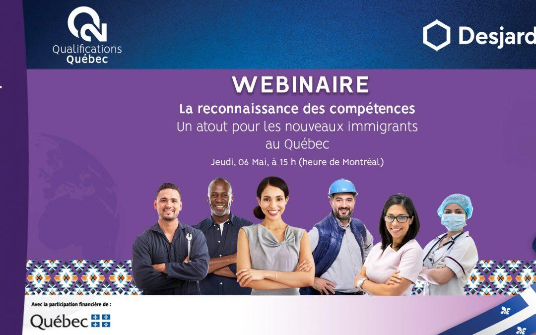 Webinaire : Reconnaissance des compétences au Québec